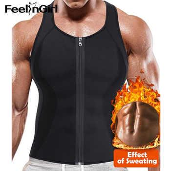 FeelinGirl Men Slimming Vest Shapewear Weight Loss Tank Trainer Girdle Belt Fat Burning Tummy Control Neoprene Body Shaper-E - DISCOUNT ITEM  50 OFF Underwear & Sleepwears
