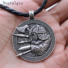 Nordic Pirate Viking Warrior Odin Pendant Necklace sword axe soldier amulet Men's Pendant Necklace Give Friends the Best Gift(China)