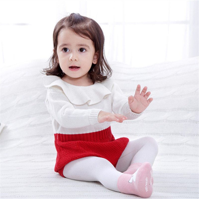 Spring Autumn New Style Baby Girls Knit Rompers Kids Patchwork Long Sleeve Princess Boys Jumpsuit Toddler Clothing 2017 new style spring autumn hoodie baby girl clothing set sequin lace long sleeve velour sports jacket long trousers outfits