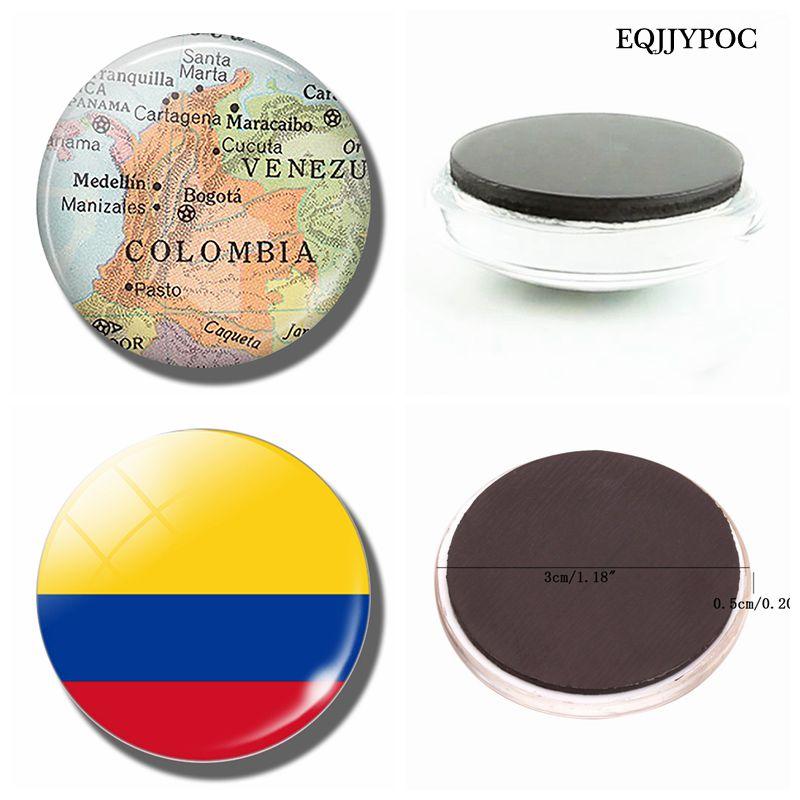 Магнит на холодильник 30 мм с картой Колумбии, Богота, Вашингтон Карта из стекла фотоальбом для домашнего декора