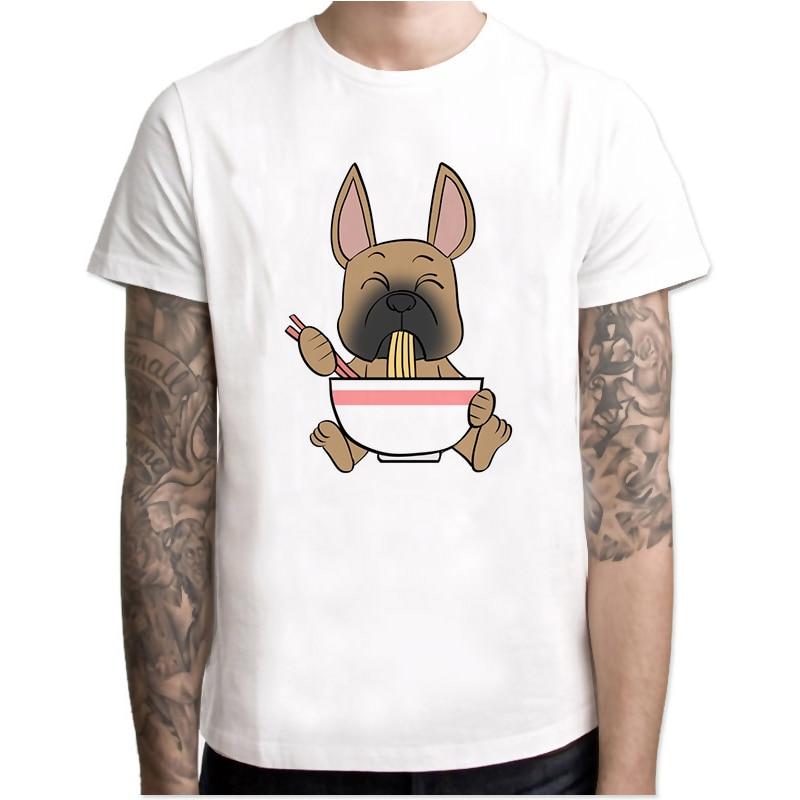 french bulldog summer top High Quality Man T-shirt Fashion White Fitness t shirt Harajuku Tshirts MR4059