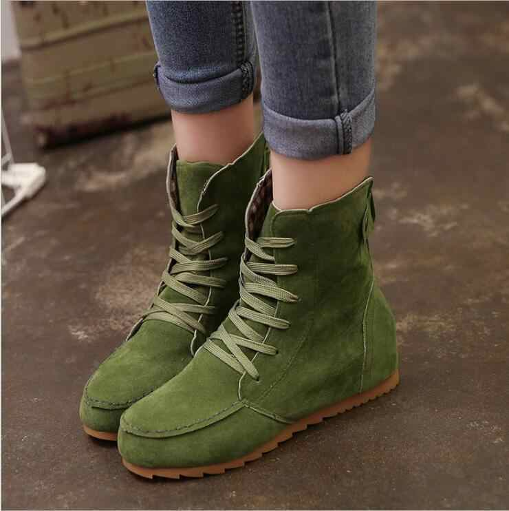 XDA/2018; женские ботинки «Челси» с круглым носком; обувь на плоской подошве; Ботинки martin; женские ботинки; удобная Осенняя женская повседневная обувь на шнуровке