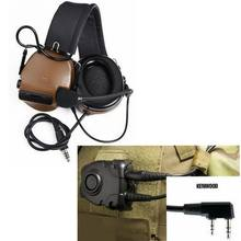 Z-Tactical Airsoft Aviation Comtac III Headset Canceling Headphone Noise Peltor Z112 PTT Kenwod Midland for BaoFeng UV-82 Z051(China)