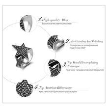 Star Silver Color Rings for Woman