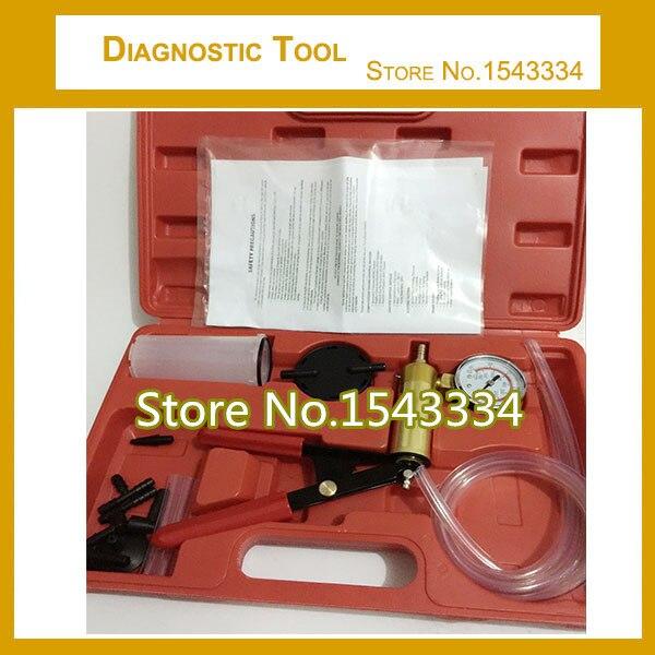 US $35 17 25% OFF Free Shipping Car Hand Held Vacuum Pump Brake Fluid  Bleeder/Bleed/Bleeding Gauge Pressure Test Tester Diagnostic Tool Set-in  Hand
