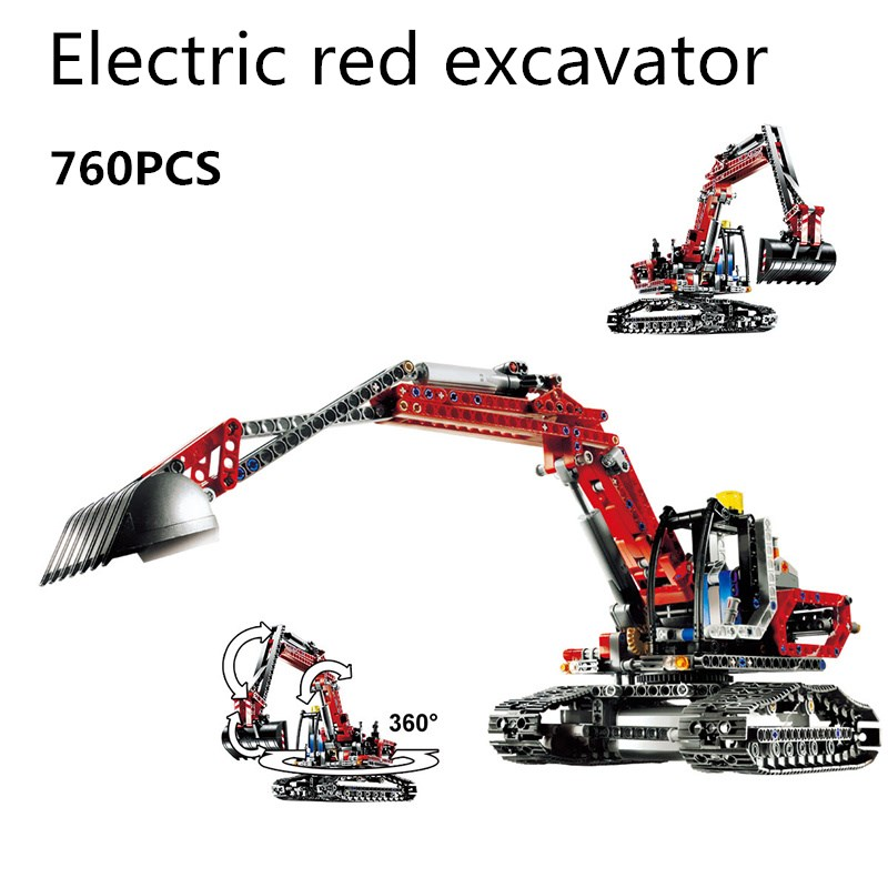 760pcs Legoings Super Cool Engineering Excavator DIY Model Building Blocks Kit Toys Gifts Compatibility with Legopingly 196pcs building blocks urban engineering team excavator modeling design