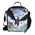 Kids Insulated Lunch Bags For Boys Girls Hero SuperMan Character How To Train Your Dragon Cooler Lunch Bag For Kids School
