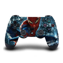 PS4 Controller Skin Super Spiderman PVC Sticker Full Cover For PlayStation 4 Wireless Controller Skin PS4 Accessory