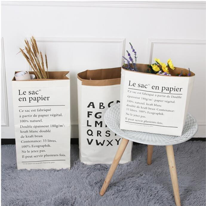 2pcs Home Sundries Dried Flowers Decorative photo ornaments Nordic Style English kraft paper storage Bag Gift Bags