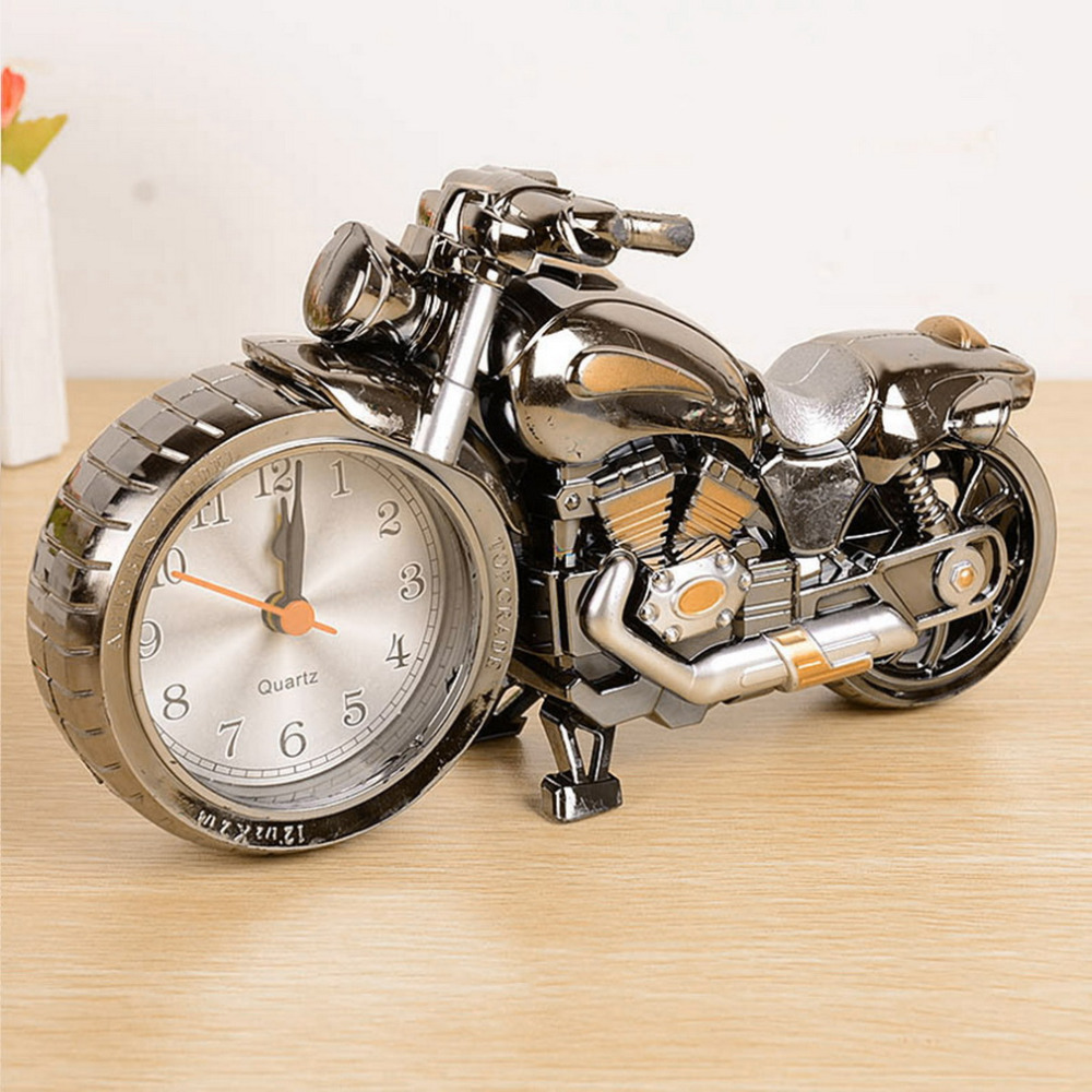 Source Creative Quality Motorcycle Clock Motorbike Pattern Alarm Desk