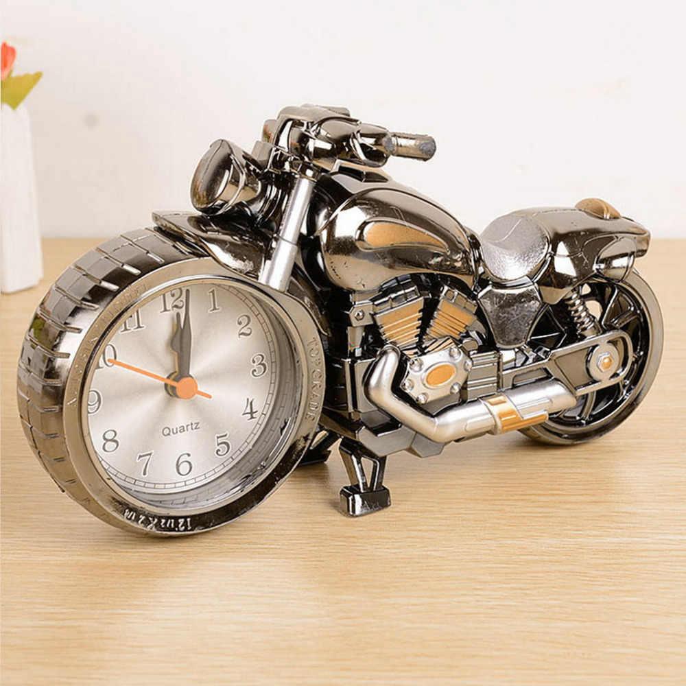 Creative איכות אופנוע שעון אופנוע דפוס מעורר שעוני שולחן בציר שולחן עבודה שעונים חג המולד חג המולד פסטיבל דקור מתנה