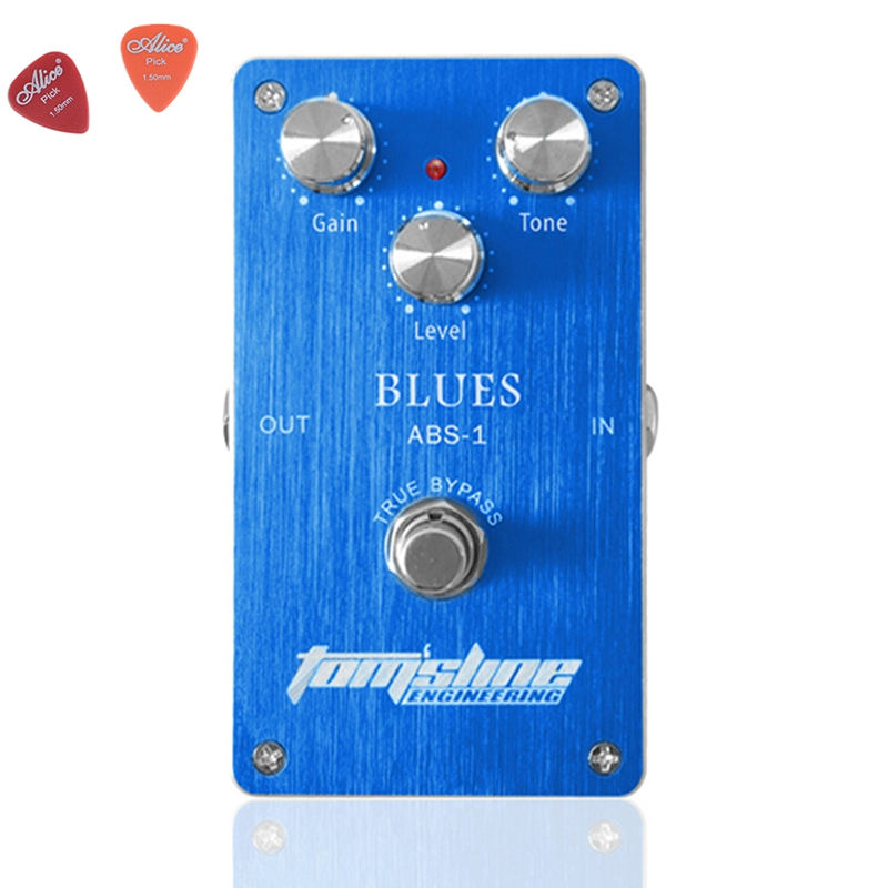 ABS-1 Blues Premium Analogue Guitar Effect Pedal Aroma Aluminum Alloy Housing Pedals Effects True Bypass With 3 Adjustable Knobs mooer ensemble queen bass chorus effect pedal mini guitar effects true bypass with free connector and footswitch topper