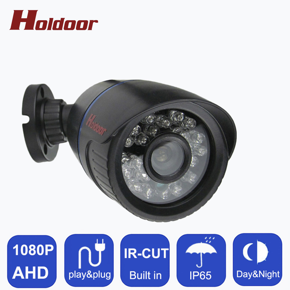 New 2MP 1080P AHD Camera Security CCTV Plastic Black Bullet Video Surveillance Outdoor IP66 Waterproof 24 infrared Night Vision wistino cctv camera metal housing outdoor use waterproof bullet casing for ip camera hot sale white color cover case