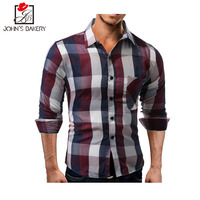 2018 Limited Moda de Nueva Marca hombres camisa de gran tamaño Vestido de manga larga slim fit camisa masculina casual camisas modelo XXL YL