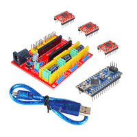 KEYES 3 D Printer Kit for Arduino CNC Shield V4+Nano 3.0+A4988 Driver GRBL Compatible