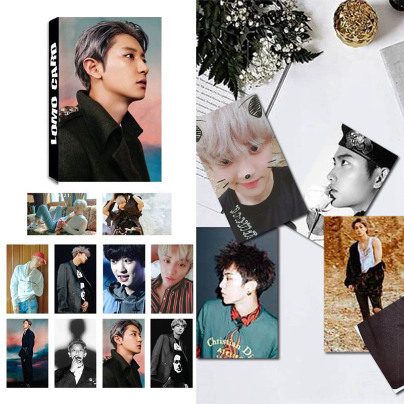 30Pcs/Set KPOP EXO Album Self Made Paper Lomo Card Photo Card Poster Fans Gift Collection Stationery Set