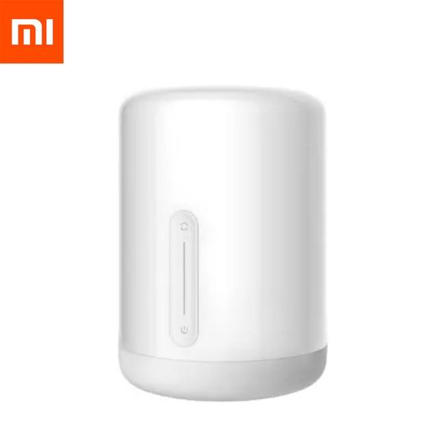 Original Xiaomi Mijia Bedside Table Lamp 2 Mi Smart House Light Indoor Bed Light Changing Colors Wireless Connect Apple HomeKit