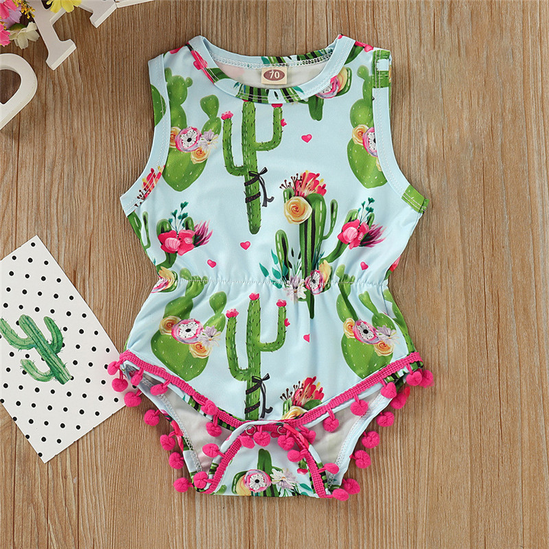 Baby Girl Clothes Infant Baby Girl Kid Cartoon Printed Tassel   Romper   Outfits Baby Girl   Romper   Baby   Romper   2019