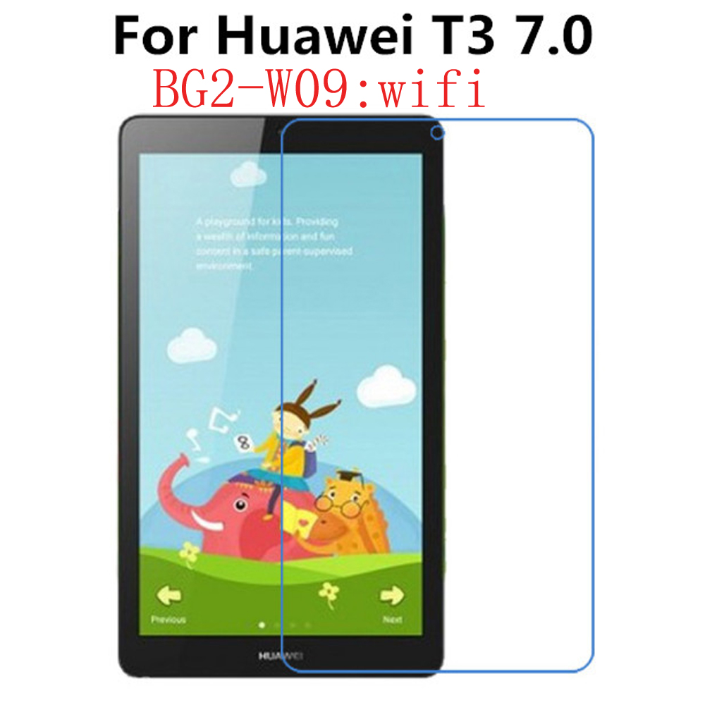 2Pcs Tempered Glass Screen Protector Film For Huawei Mediapad T3 7.0 Wifi BG2-W09 7 Inch Tablet + Alcohol Cloth + Dust Stickers