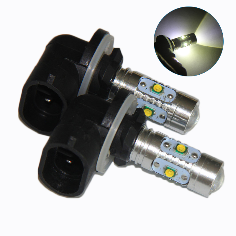 2pcs 30W 881 H27 LED Cree Chip Fog Light Daytime Running Lamp For KIA Sorento HYUNDAI Fog Light Bulb Lamp