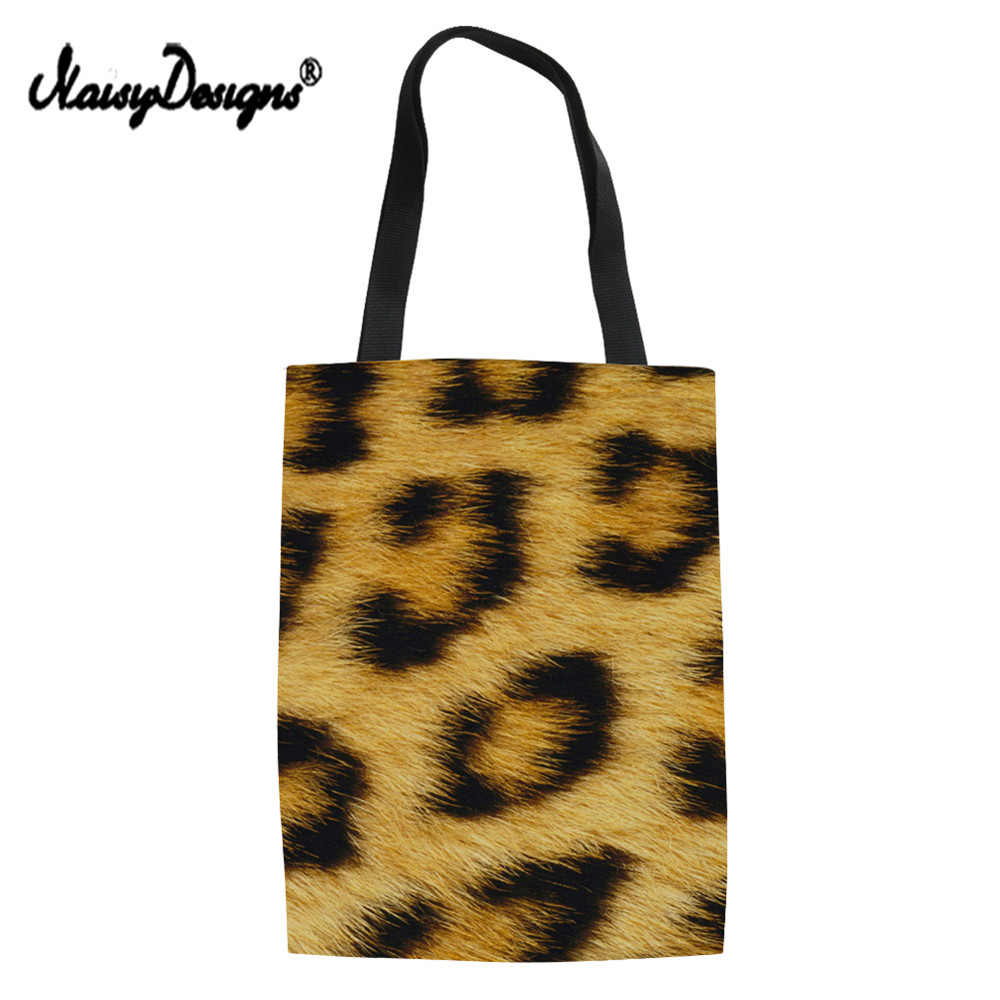 NoisyDesigns Women Leopard Print Convenient Classic European style Shopping Bags Simple Shoulder Portable Large Capacity Bags ...