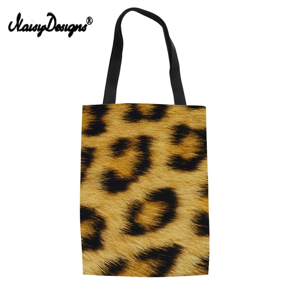 NoisyDesigns Women Leopard Print Convenient Classic European style Shopping Bags Simple Shoulder Portable Large Capacity Bags ...