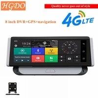 HGDO 3g/4G 8 дюймов регистраторы Видеорегистраторы для автомобилей gps навигатор Retrovisor Android WiFi Quard Core Full HD1080P ADAS видеокамера вождения Запись