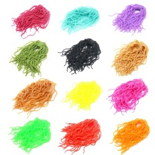 60 strands Fishing Lures Soft Worm Body Squirmy Wormy Fly Tying Materials Rubber String Flies Baits Silicone Wiggly Maggot Grub