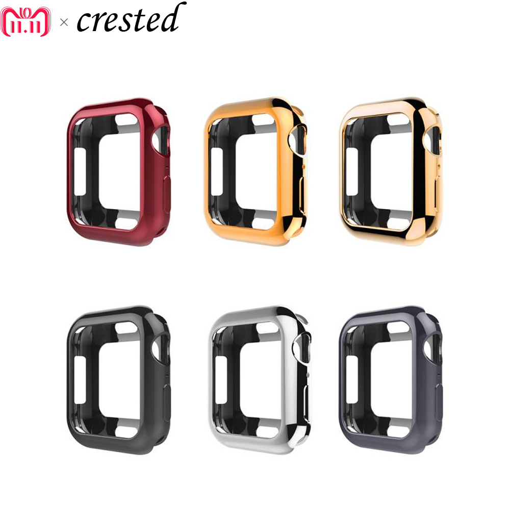 Protective Case Cover for Apple Watch band 44mm 40mm Iwatch band 4 case TPU Silicone Soft Protect shell apple watch accessories