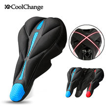2017 CoolChange Bike Saddle Thick Sponge  Bicycle Saddle Cover Cycling Seat Comfortable Cushion Soft Seat Cover for Accessories coolchange 10005 3d soft lycra cushion bicycle saddle pad seat cover black silver