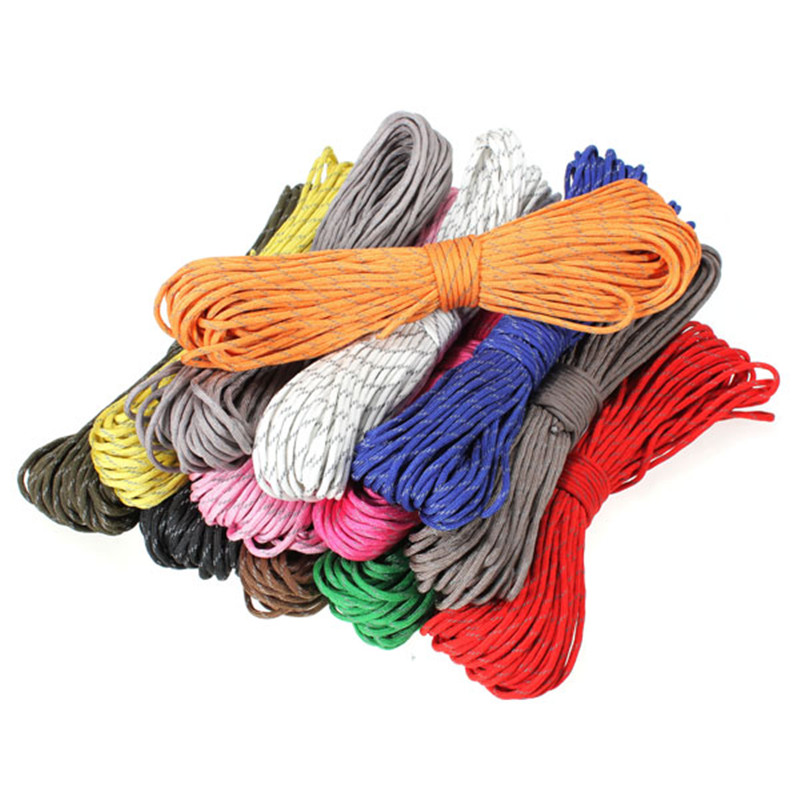 Hot Sale 10FT Reflective 550 Paracord Rope Type III 7 Strand Light Reflecting for Survival Parachute Cord Bracelets Paracord paracord guaranteed milspec c 5040h compliant 8 strand type iii military survival 550 parachute cord made in the u s from 100