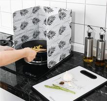 Kitchen Cooking Oil Splatter Screens Aluminium Foil Plate Gas Stove Anti Splash Baffle Frying Oilproof Tools