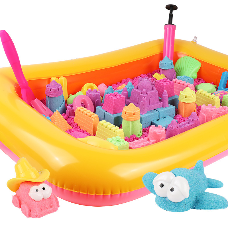 84 Pcs Huge Pack Of Magic Sand Set Educational Colored Soft Slime Space Sand Supplies Childrens Kenetic Play Sand Set For Kids