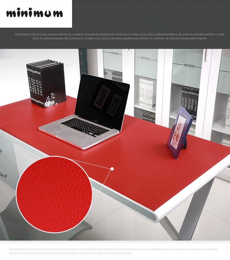 Leather Texture Desk Case Table Mats Carpet Computer Desk Pad PVC Desk  Thicker Table Cloth Customizable