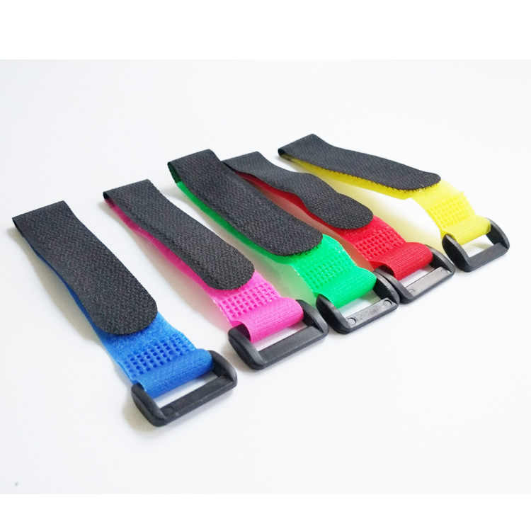 5pcs 2*20 30 45cm Magic Sticker Strap Lipo Battery Ribbon Fastener Reusable Cable Tie Wrap for 250 450 500 550 Quadcopter