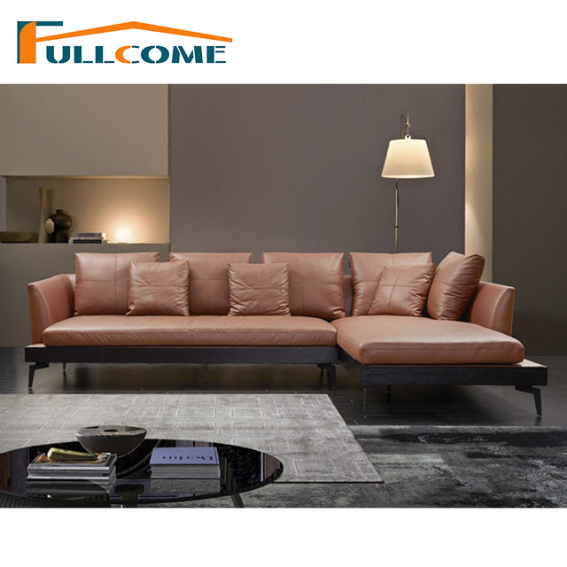 China Luxury Home Furniture Modern Leather Scandinavian Sofa Love Seat  Chair Living Room Feather Italian Corner Sectional Sofas