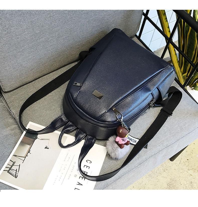 HTB1X811aZrrK1RjSspaq6AREXXaU Fashion Gold Leather Backpack Women Black Vintage Large Bag For Female Teenage Girls School Bag Solid Backpacks mochila XA56H