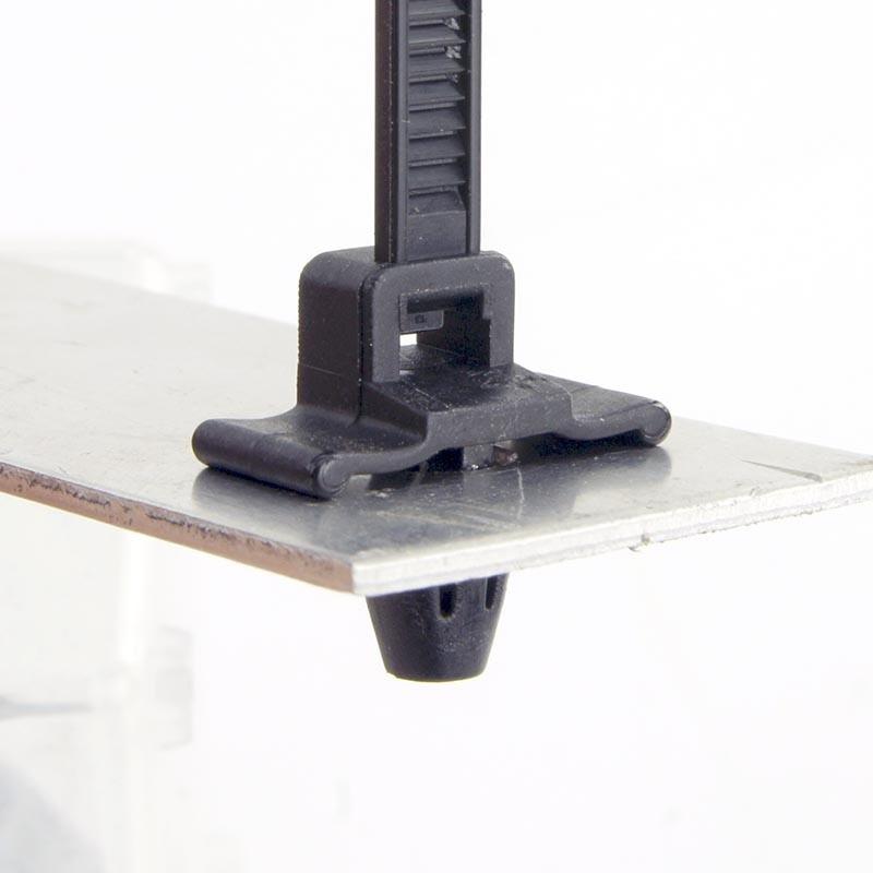 100pcs 5mm x200 Push Mount Wire Ties nylon screw push mount cable tie zip tie