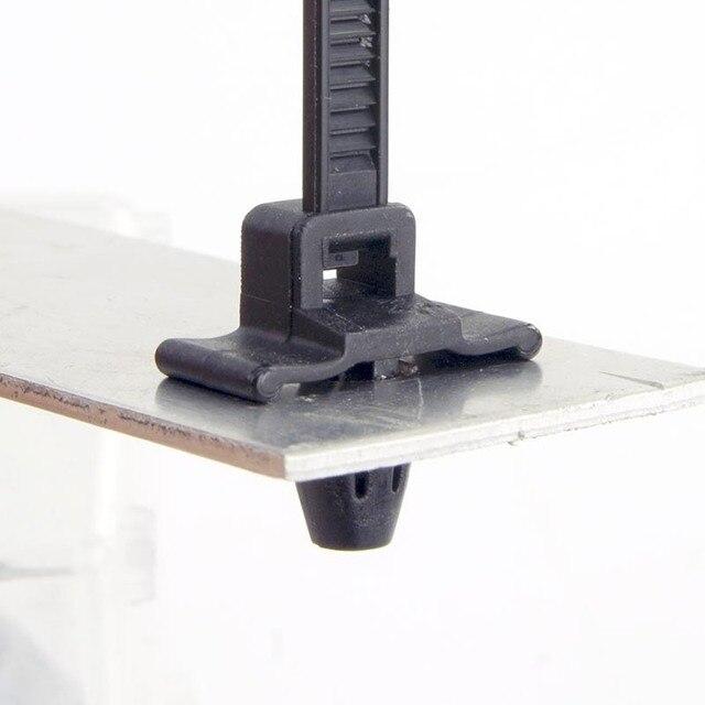 100pcs 5mm x200 Push Mount Wire Ties ,nylon screw push mount cable ...