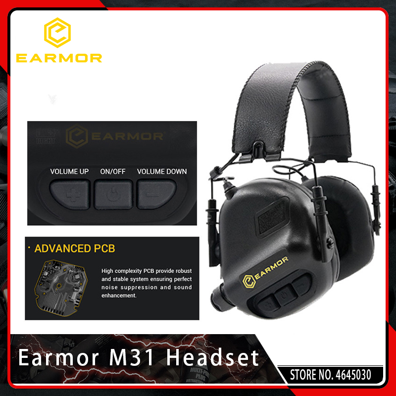 Casque de tir tactique Airsoft Earmor M31 casque d'aviation Anti-bruit casque militaire Softair Protection d'oreille