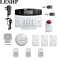 LESHP Wireless GSM Autodial Security System LCD Display Easy Installation Burglar Intruder Alarm Apparatus For Home