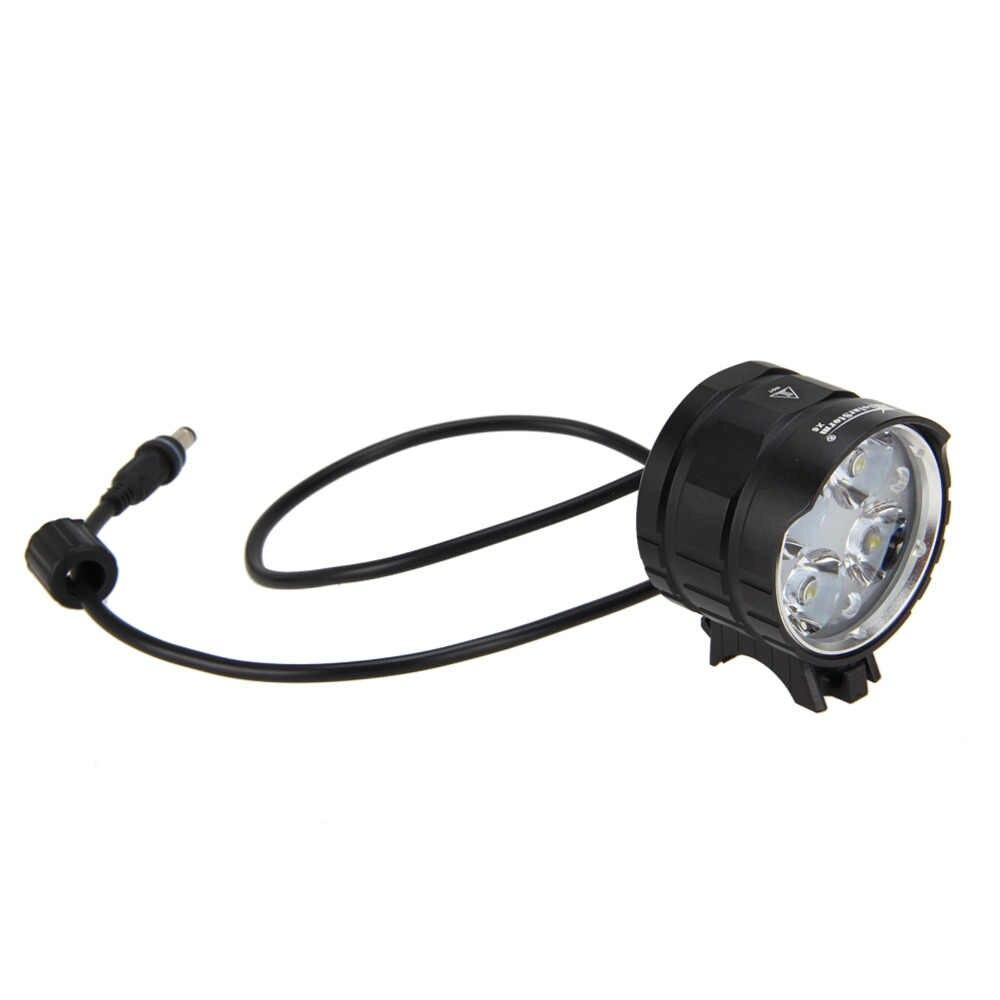 4000LM 4x XML T6 светодиодный головка велосипедный Фонарь налобный фонарь передний велосипедный фонарь фара, фары + 12000 мА/ч, 18650 Батарея набор