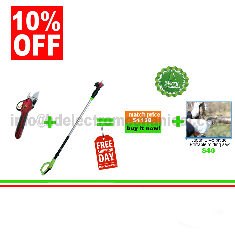Online buy wholesale electric pruner from china electric for Electric hand garden shears