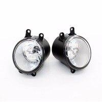 2pcs Auto Front Bumper Fog Light Lamp Car H11 Halogen Light 12V 55W Bulb Assembly For