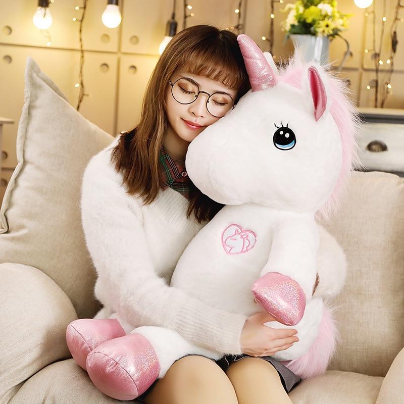 35-80cm Kawaii Unicorn Plush Toy Stuffed Lovely Soft Unicornio Plush Toys For Children Creative Birthday Gift For Girls Lovers