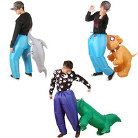 Inflatable Animal Crocodile Shark Dog Bite Ass Trousers Inflatable Costume Fancy Dress Adults Halloween Costume Inflated Garment