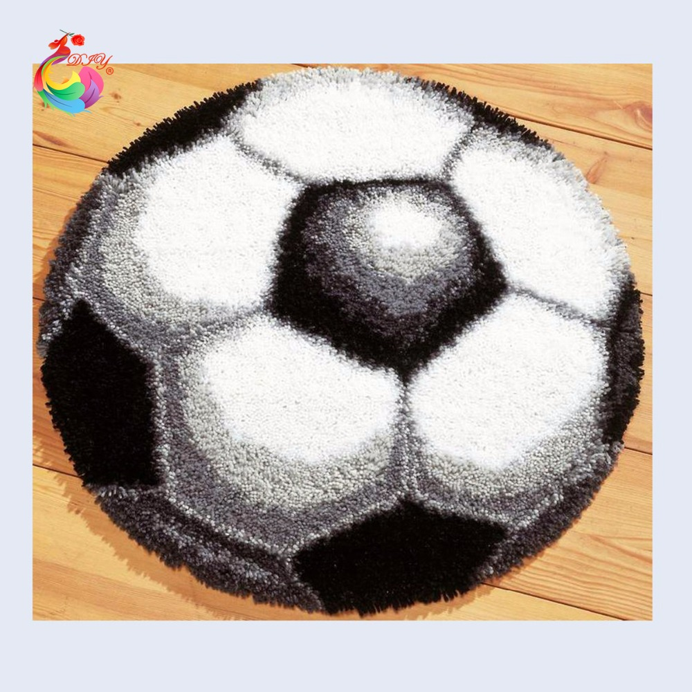Football Carpet Embroidery Threads Embroidery Latch Hook Rug Kits  Embroidered Carpet Mats Handmade Carpet Rugs Carpet