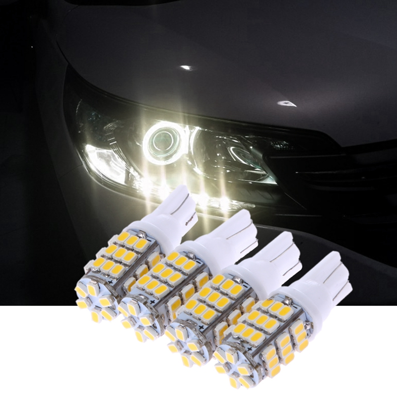 4Pcs T10 42SMD 1206 Small Led Car Light W5W Car-styling Interior Tail/Trunk/Reading Lamp 12V Vehicle Light-emitting Diode Bulbs 1206 4 3k 432 5