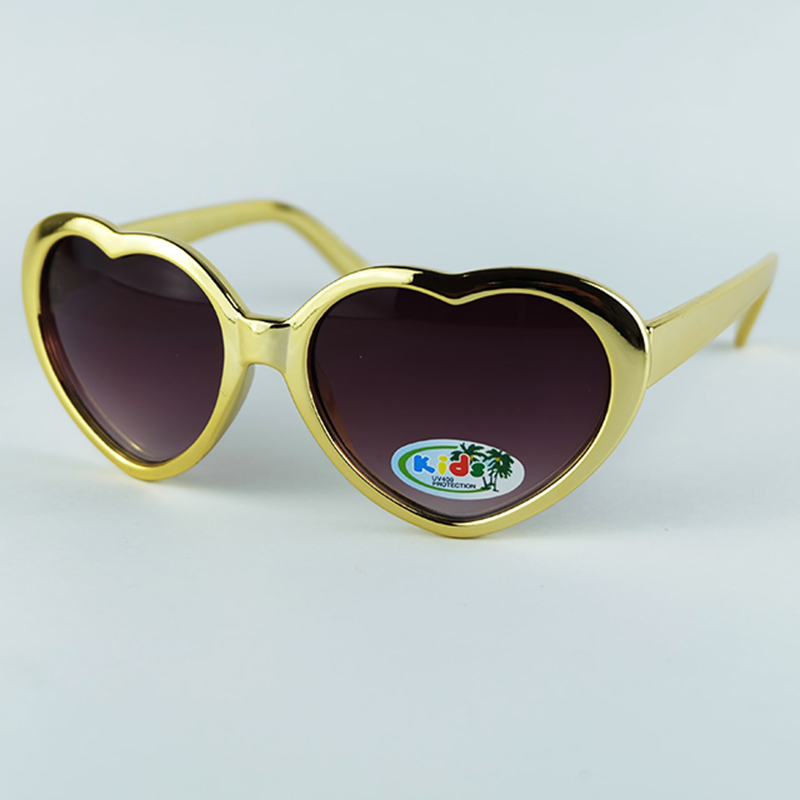 Kids Sunglasses Heart Design Styling Electroplating Shining Frame With UV400 Protection Lenses
