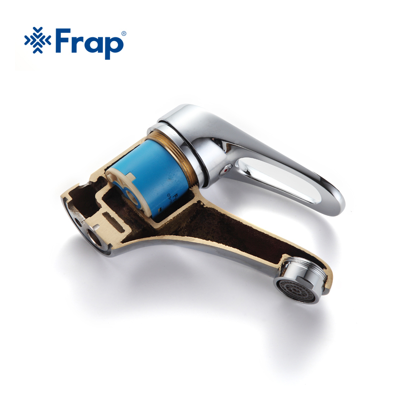 Image 5 - FRAP mini Stylish elegant Bathroom Basin Faucet Brass Vessel Sink Water Tap Mixer Chrome Finish  F1013  F1036-in Basin Faucets from Home Improvement